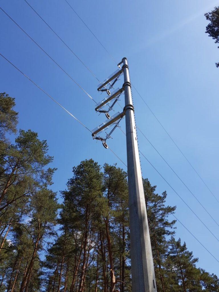 pomiar zwisów linii energetycznych